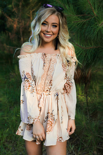 Summer Fields Floral Romper