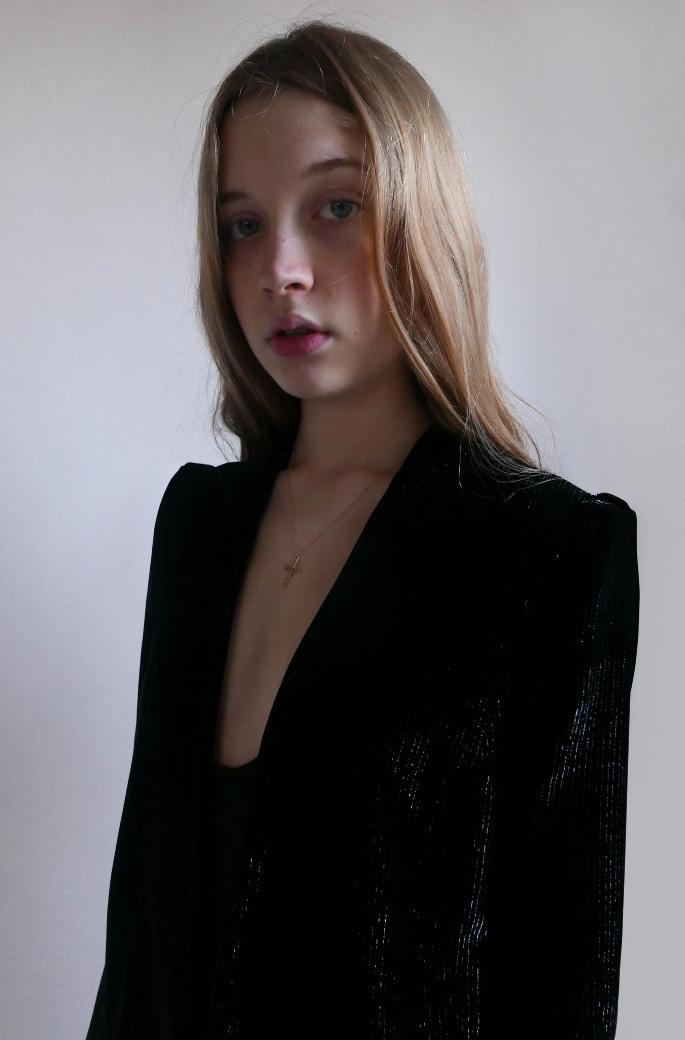 Silver thread velvet jacket
