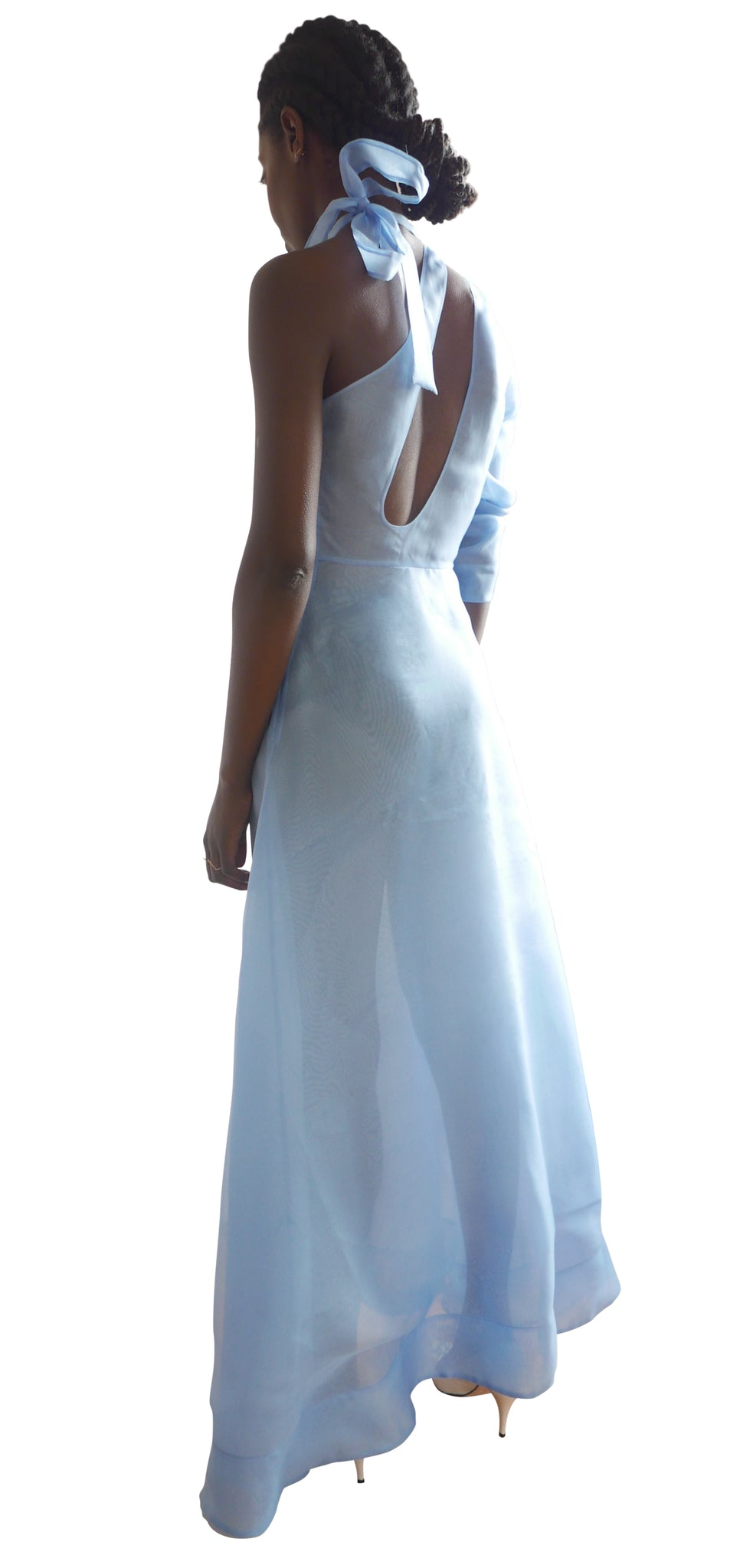 Bow Organza Gown