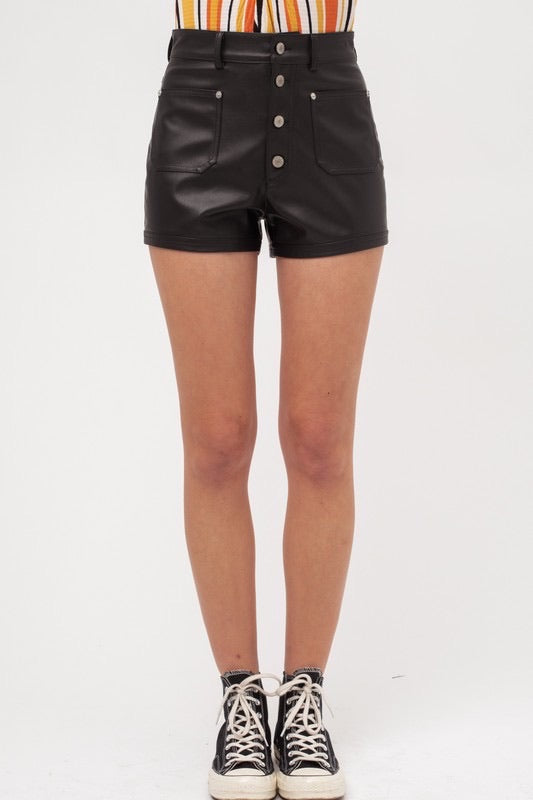 Vita Leather Shorts