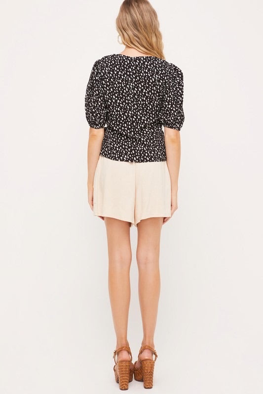 Audrey Printed Blouse