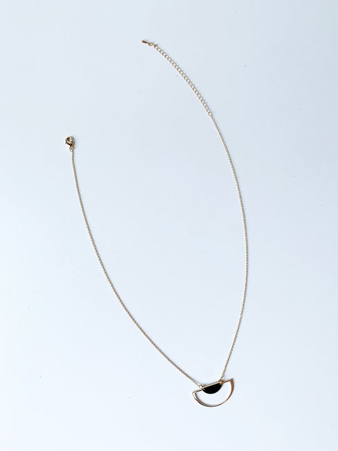 Cut Moon Dainty Necklace