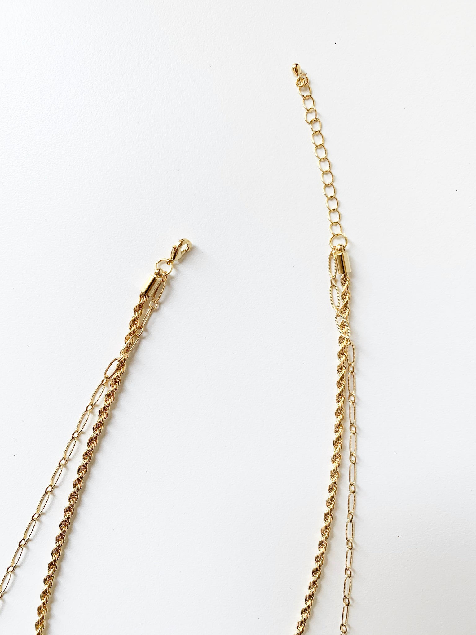 Lena Twisted Chain Layer Necklace