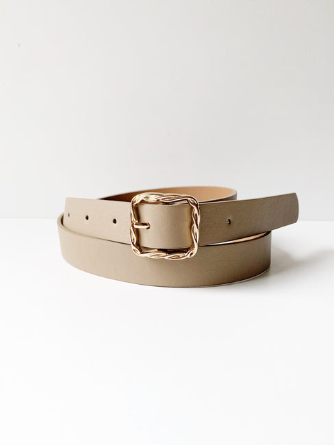 Braided Square Buckle Belt