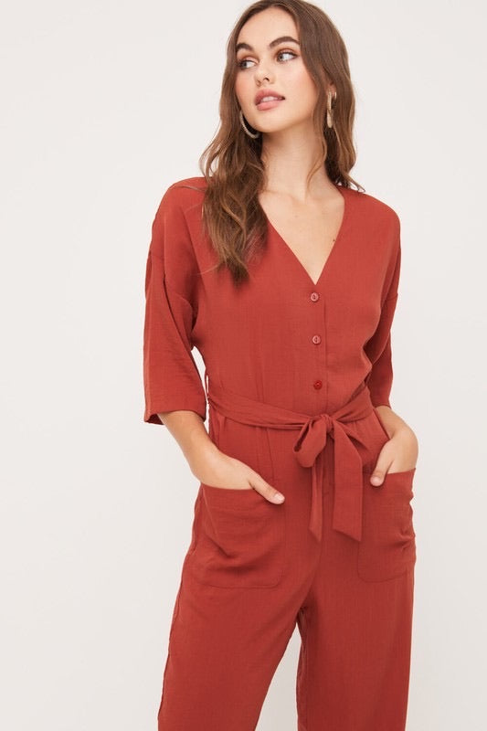 Ashby Belted Jumpsuit