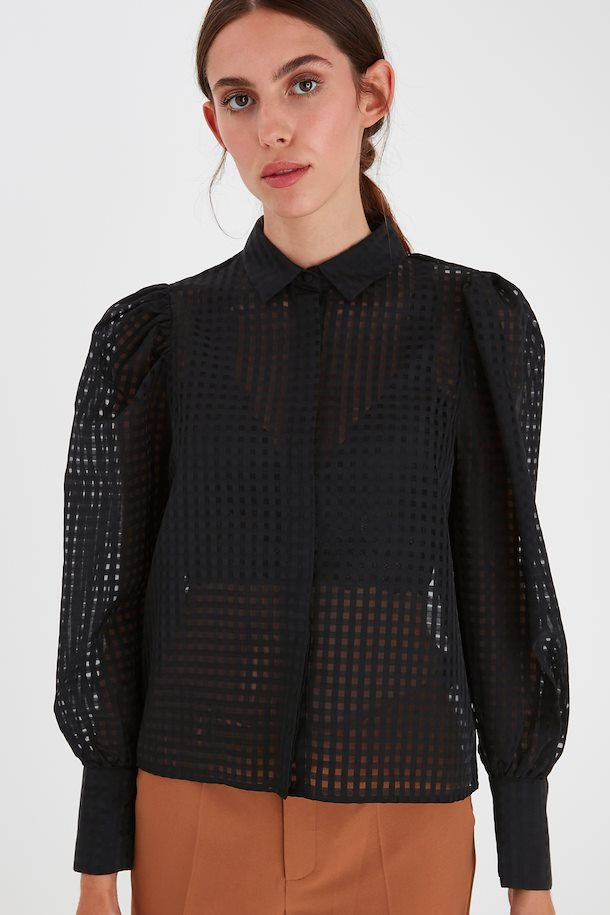 Kay Sheer Grid Blouse