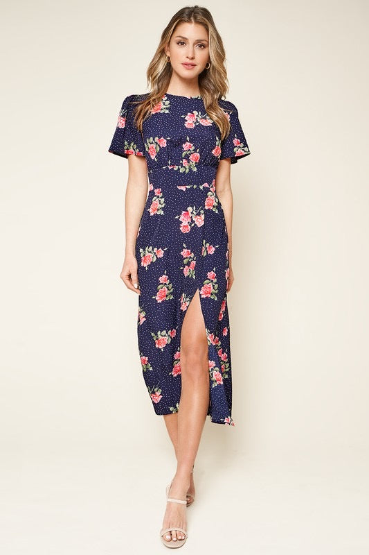 Savanna High Slit Midi Dress