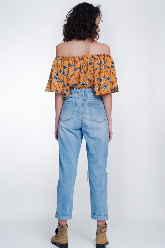 Myra Asymmetric Mom Jeans
