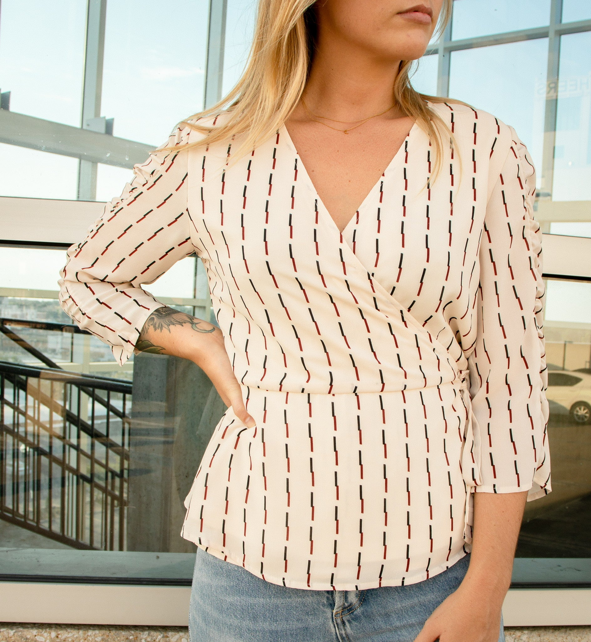 Lyla Wrap Blouse
