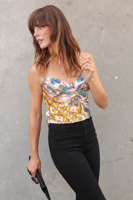 Aria Crop Silk Cami