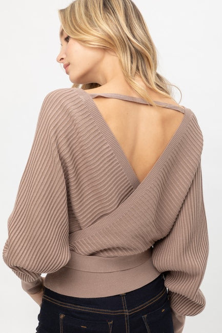 Wylie Wrap Sweater