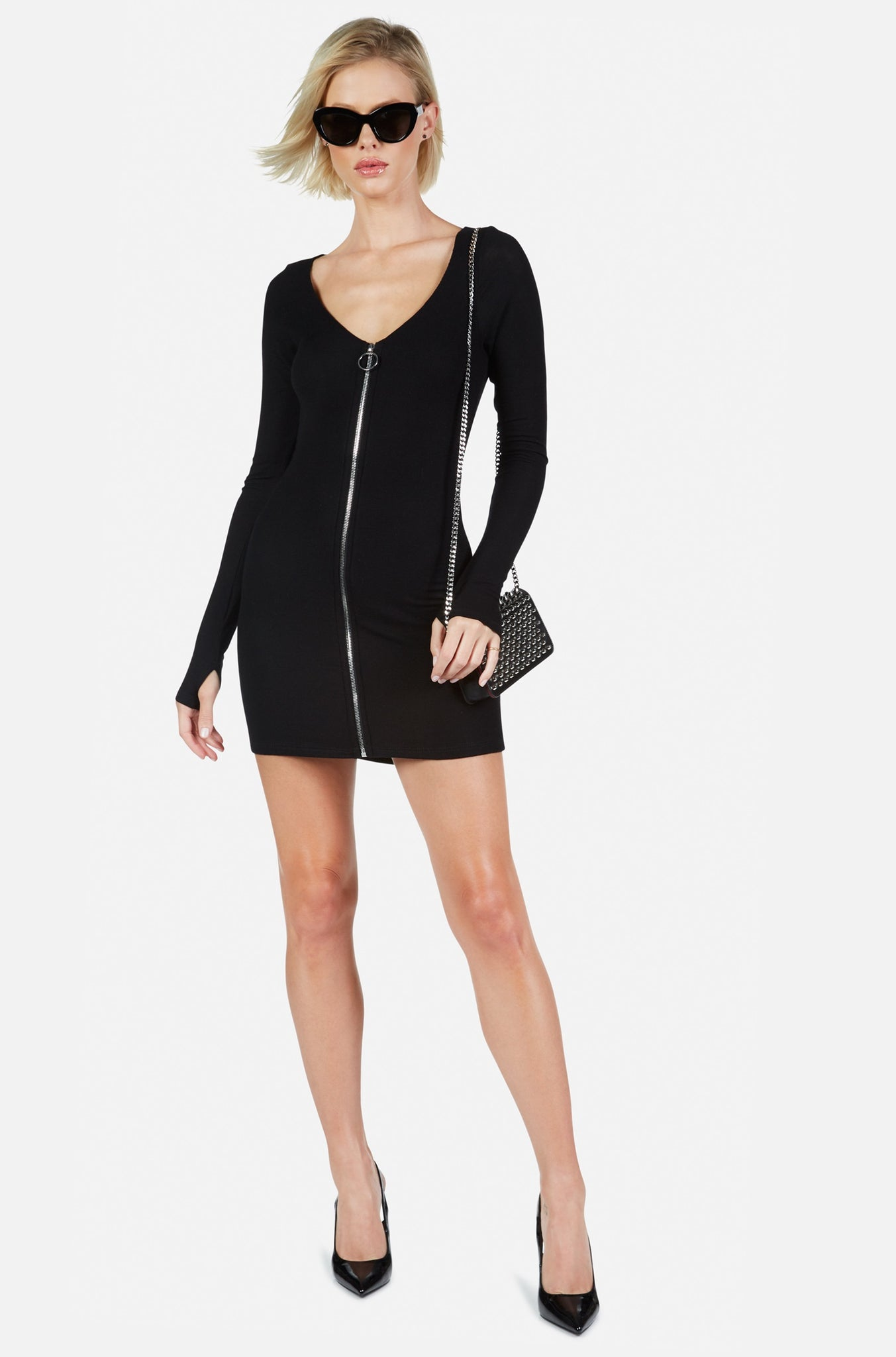 Michael Lauren Elvis Zip Dress