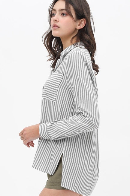 Granger Stripe Button Up