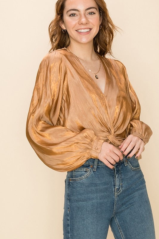 Lyla Front Twist Blouse