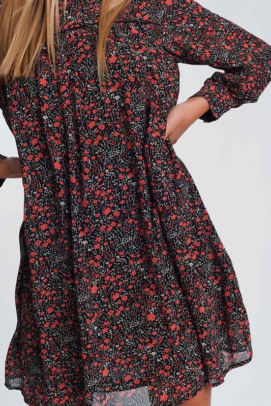 Mae Floral Swing Dress