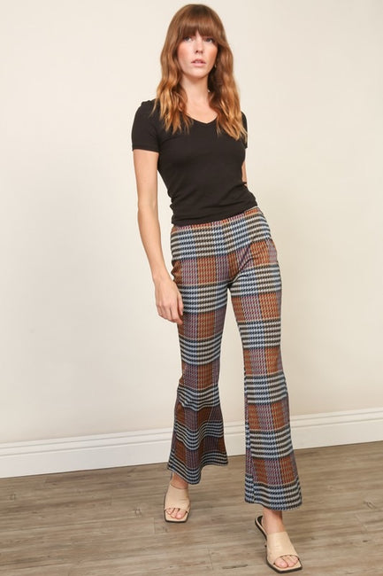 Kick Flare Plaid Pant