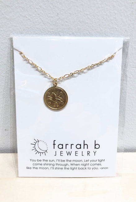 Farrah B Horoscope Medallion