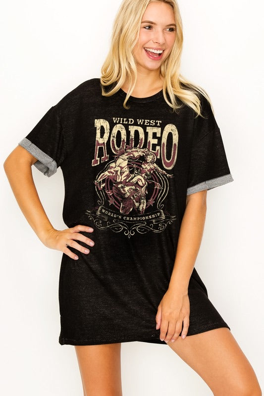 Wild West Rodeo Tee Dress