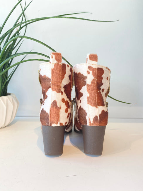 Kelbie Cow Bootie