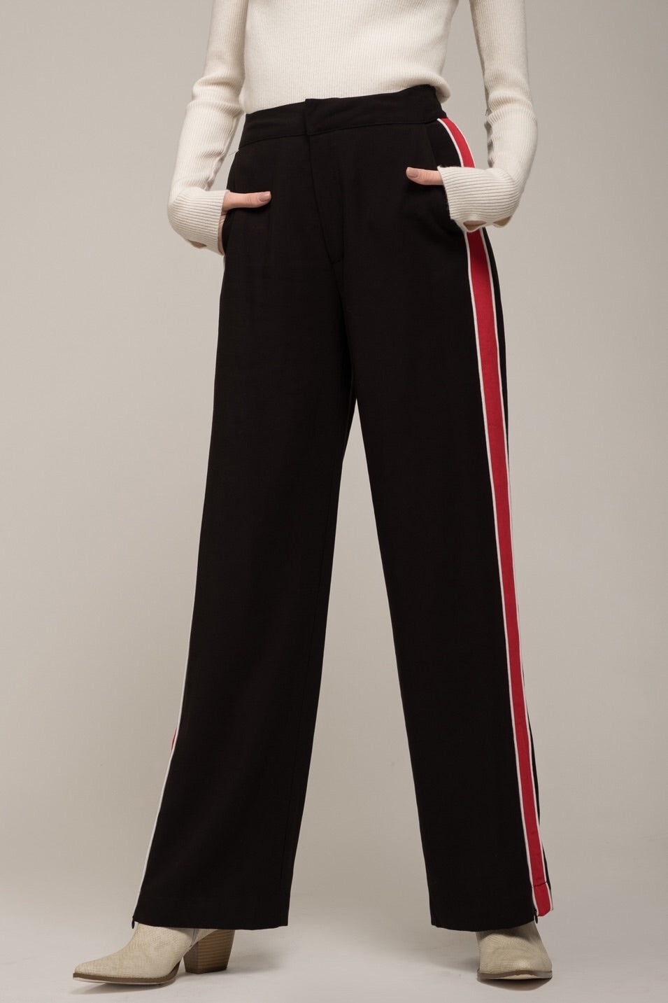 Moon River Racer Stripe Pant