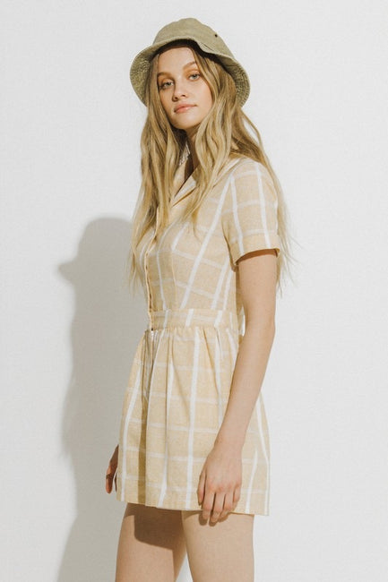 Palmer Plaid Romper