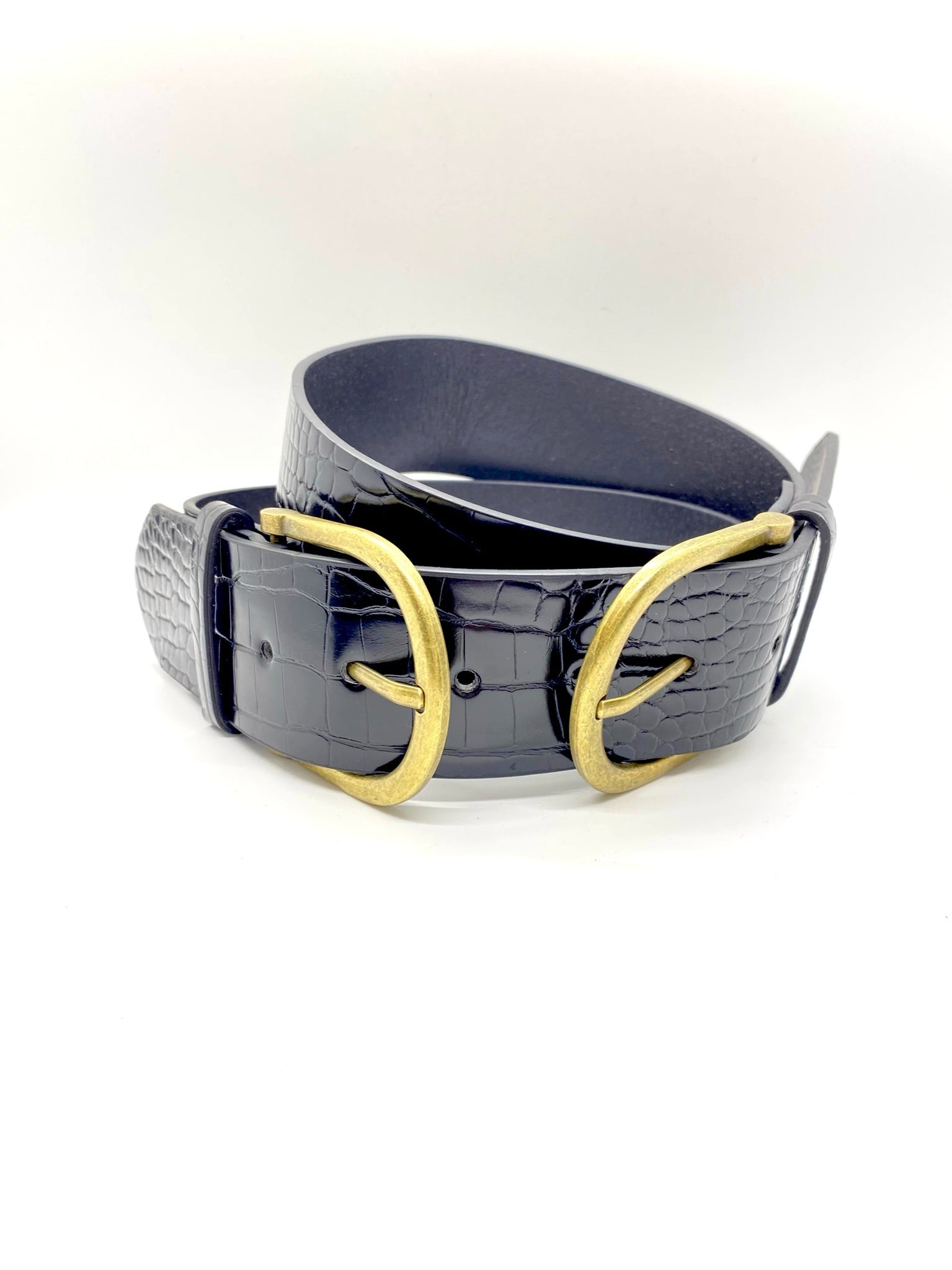 Talulla Double Buckle Wide Belt