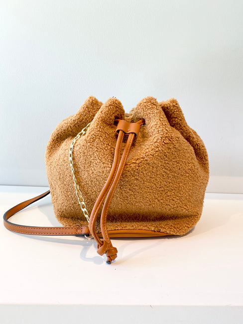 Fuzzy Bucket Bag