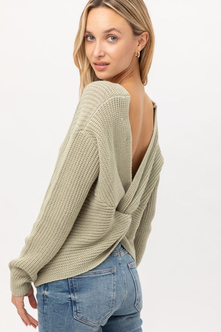 Delcy Twist Back Sweater