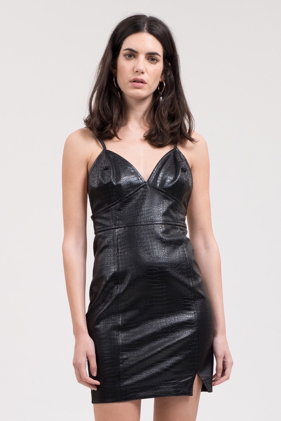 Leather Bodycon Dress