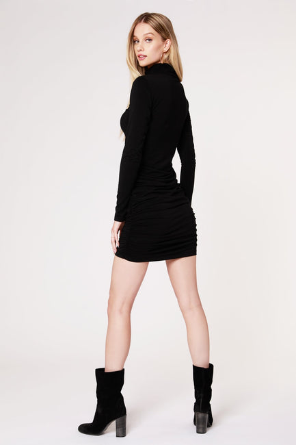 Bobi Longlseeve Turtleneck Dress