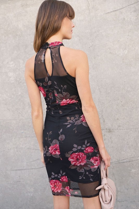 Alora Floral Bodycon Dress