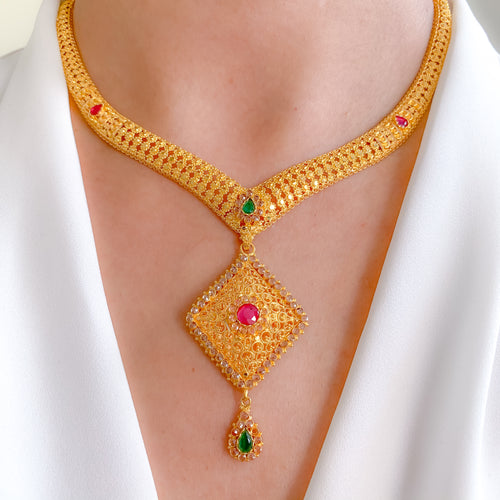 V-shaped Parap Necklace Set
