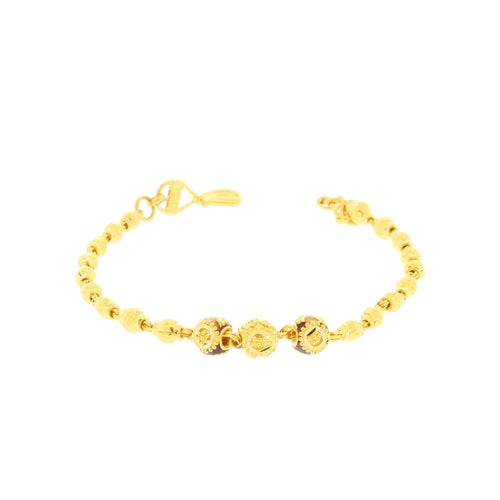 Traditional Gold Beed Meena Bracelet