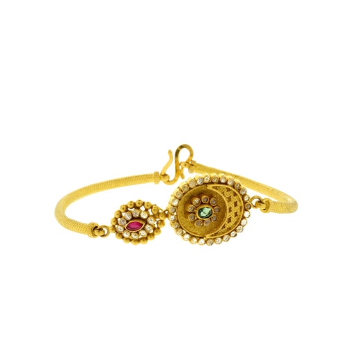 Kundan Flower Bangle Bracelet