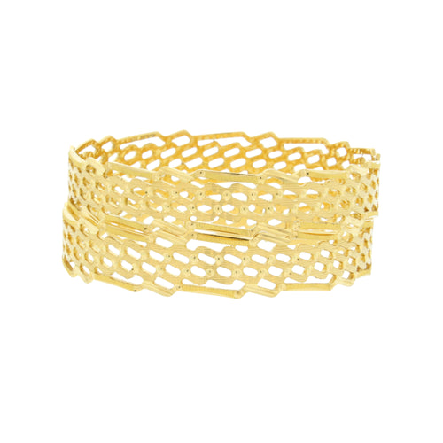 Contemporary Gold Bangles