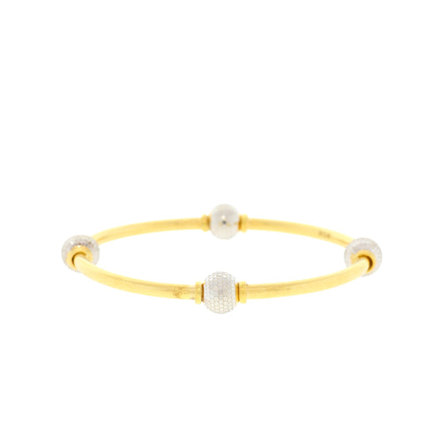 Diamond-cut Bangle