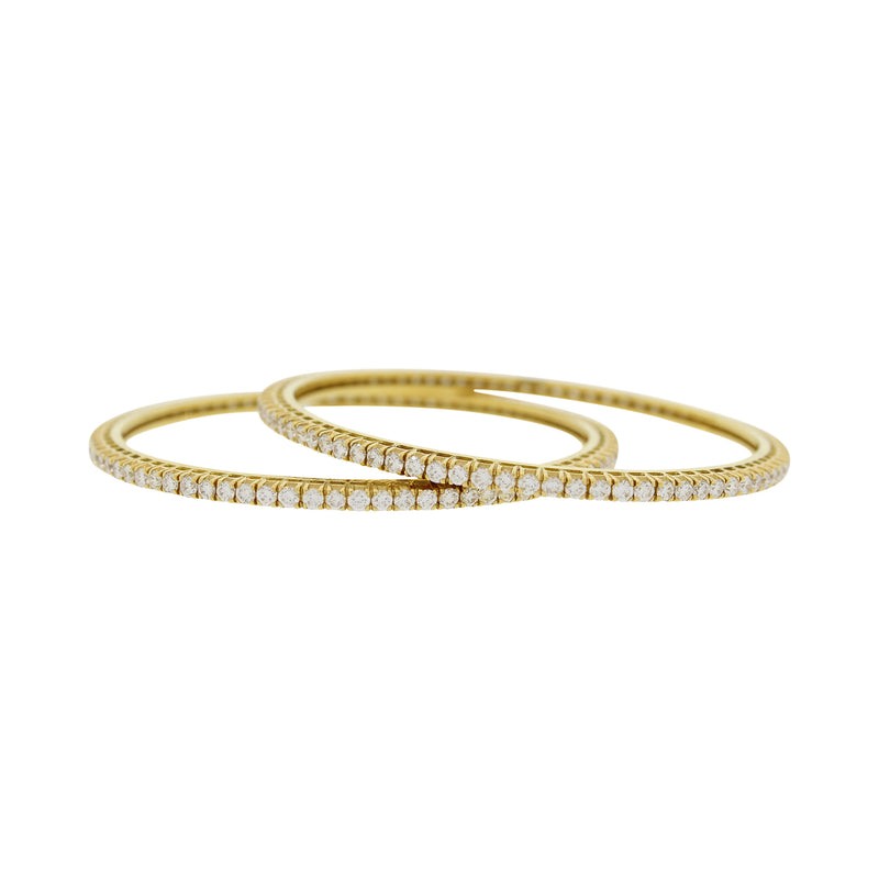 SOLITAIRE DIAMOND BANGLES