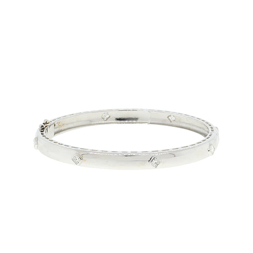Marquise Diamond Bangle Bracelet
