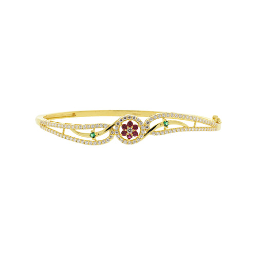 Ruby and Emerald Bangle