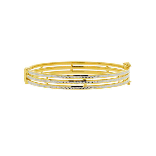 Three-Ring Bangle Bracelet