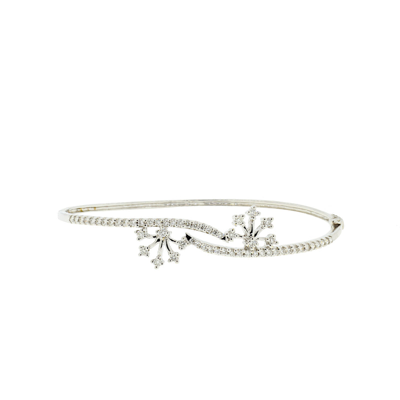 Snowflake Diamond Bangle Bracelet
