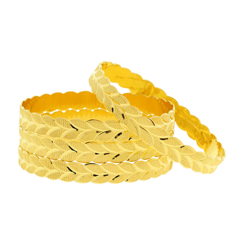Repeating Leaf Bangles