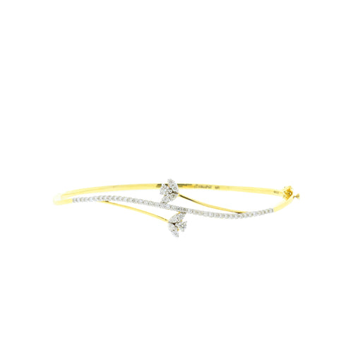 Subtle Lotus Diamond Bangle