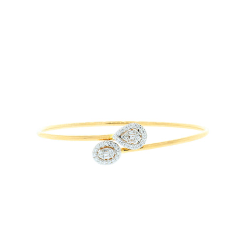Double Halo Diamond Bangle