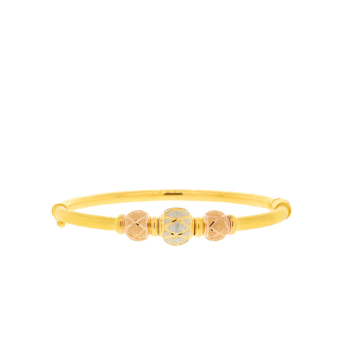 Chic Three-Tone Bangle Bracelet