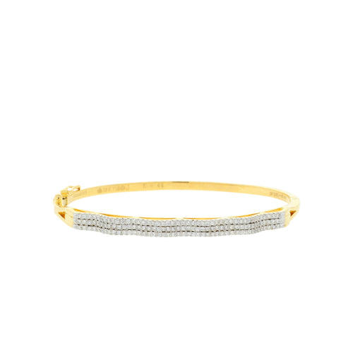 Statement Diamond Bangle Bracelet