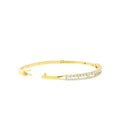 Dual Row Diamond Bangle Bracelet