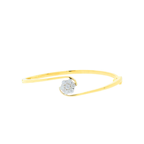 Diamond Flower Bangle Bracelet