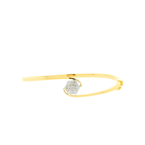 Diamond Cluster Bangle Bracelet