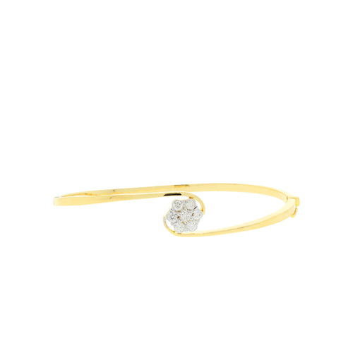 Simple Flower Bangle Bracelet